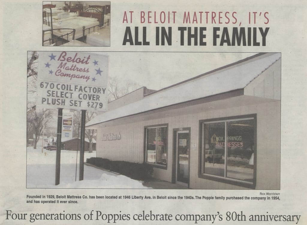 Beloit Mattress company treats you like family because they are family