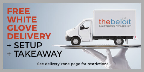Free White Glove Delivery + Setup + Takeaway