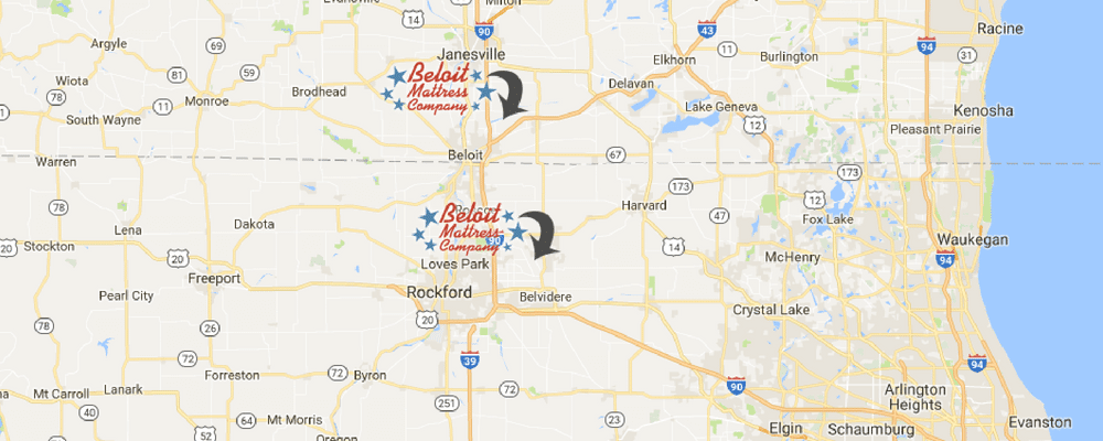 Beloit has two wholesale mattress stores in Illinois and Wisconsin