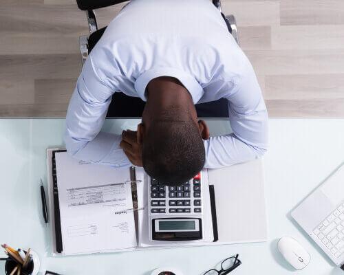 Narcoleptic sleeping on desk