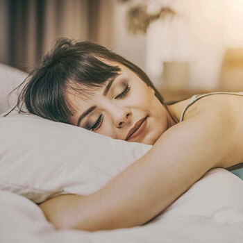 Young Lady sleeping soundly