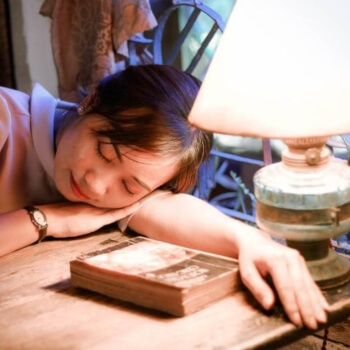 Woman with narcolepsy.