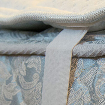 custom mattress topper with straps